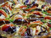 Verduras horno tres quesos