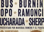 años después, Rocktiembre vuelve Vistalegre Obús, Burning, Ramoncín, Topo, Cucharada Sherpa