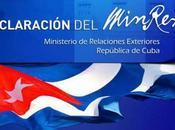 Declaración MINREX ratifica Canadá Cuba país seguro