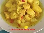 Guiso patatas pechuga pollo cúrcuma olla tradicional