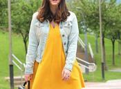 Outfit spotychic vestido amarillo