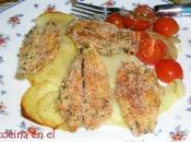 Boquerones sobre rodajas patata