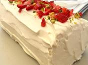 Brazo fresas vainilla (Strawberries vanilla roll cake)