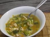 Sopa miso, verduras pavo