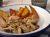 pollo mostaza patatas cajún