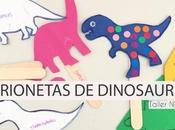 Marionetas dinosaurios para hacer niños