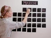 Calendario pizarra para pared