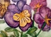 Flores acuarela 12x20cm