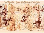 """pinturas barcos cueva gaditana """"laja alta"""" podrían varios miles años antiguas."""
