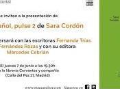 """Presentación """"Para español, pulse Sara Cordón"""