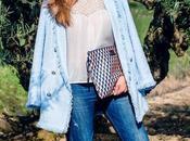 Abrigo Tweed Azul