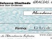 Cheque Abundancia Junio 2.018