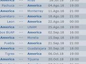 Calendario America apertura 2018 futbol mexicano