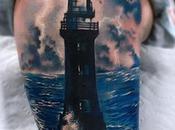 Decidieron tatuarse faro brazos resultado exelente