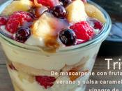 Trifle mascarpone frutas verano salsa caramelo vinagre jerez