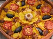 Receta paella arroz horno