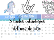 Calendarios julio descarga gratuita