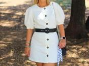 White Buttoned Dress