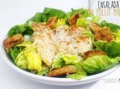 Ensalada césar pollo marinado