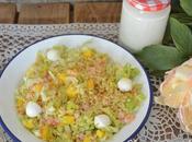 Ensalada trigo langostinos mango