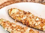 Calabacín relleno pollo champiñones