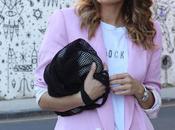 Combinar blazer mujer rosa