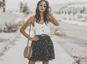 Floral print skirt summer