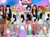 Sailor Moon Crystal Dresses Girls (Sims