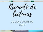 Recuento lecturas julio Agosto 2018