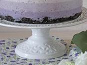 Ombre cheesecake coco arándanos {sin horno}