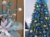 Hermosas ideas para decorar navidad tonos azules plata