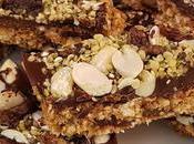 Barritas energéticas avena chocolate frutos secos