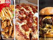Hamburguesas, perros calientes, pizza, burritos, tostadas...