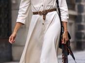 Midi beige dress