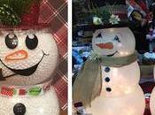 Hermosos muñecos nieve usando peceras vidrio