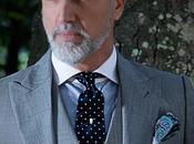 Traje italiano medida gris claro mixto lana