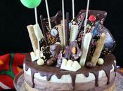 Drip cake tres chocolates