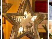 Ideas para hacer estrellas decorativas madera navidad