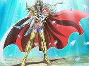 anime Saint Seiya muestra visual