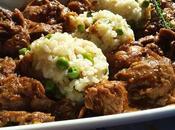Estofado curry ternera galega arroz primavera