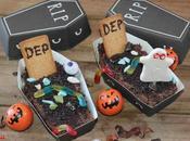 Tumbas bizcocho nutella para halloween