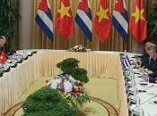 Presidentes Cuba Vietnam revalidan probada amistad