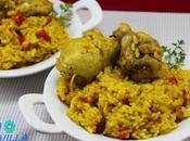 Arroz pollo curry olla