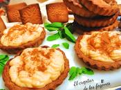 Tartaletas galleta crema pastelera calabaza