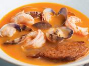 Sopa pescado almejas
