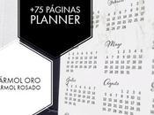 Planner calendario 2019 mármol páginas gratis