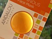 Instant luminous face mask Andalou Naturals, mascarilla facial iluminadora vegana