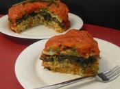 Pastel tortillas verduras champiñones