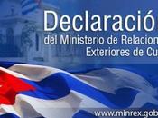 Declaración Ministerio Relaciones Exteriores Cuba