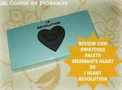 Review swatches Paleta Mermaid's Heart Revolution